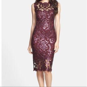Tadashi Shoji Sequin Illusion Dress Size 4